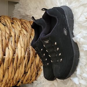 Skechers black flex elite sneakers